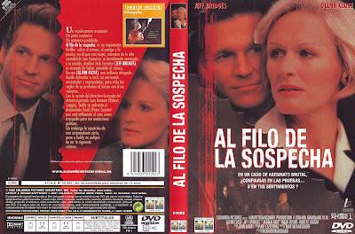 Carátula dvd: Al filo de la sospecha (1985)