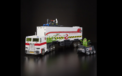 San Diego Comic-Con 2019 Exclusive Transformers x Ghostbusters Ectotron Optimus Prime Ecto-35 Edition Action Figure by Hasbro