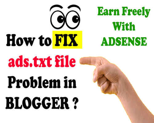 all about how to fix ads.txt file error in blogger for adsense