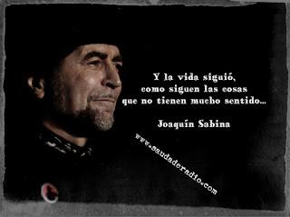 """""""Y la vida siguió, como siguen las cosas que no tienen mucho sentido."""" Joaquín Sabina - Donde habita el olvido"""