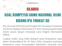 Download Silabus OSN SD 2020 yang diganti nama menjadi KSN SD 2020