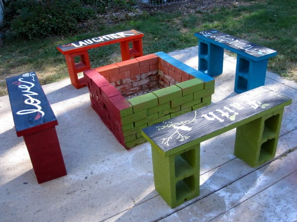 Colorful Backyard Furniture