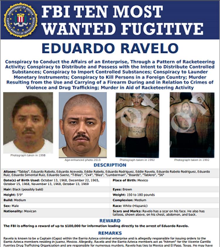 Cumplen orden de aprehensión para extraditar a 'El Tablas' líder del grupo criminal Barrio Azteca