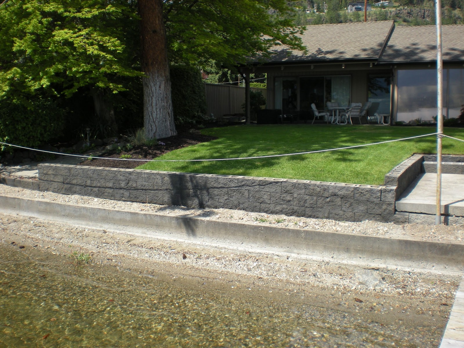Mode Concrete Acid Stain Your Concrete Block Retaining