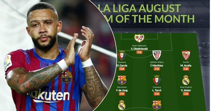 Memphis Depay and Frenkie De Jong make La Liga/Whoscored team of the month