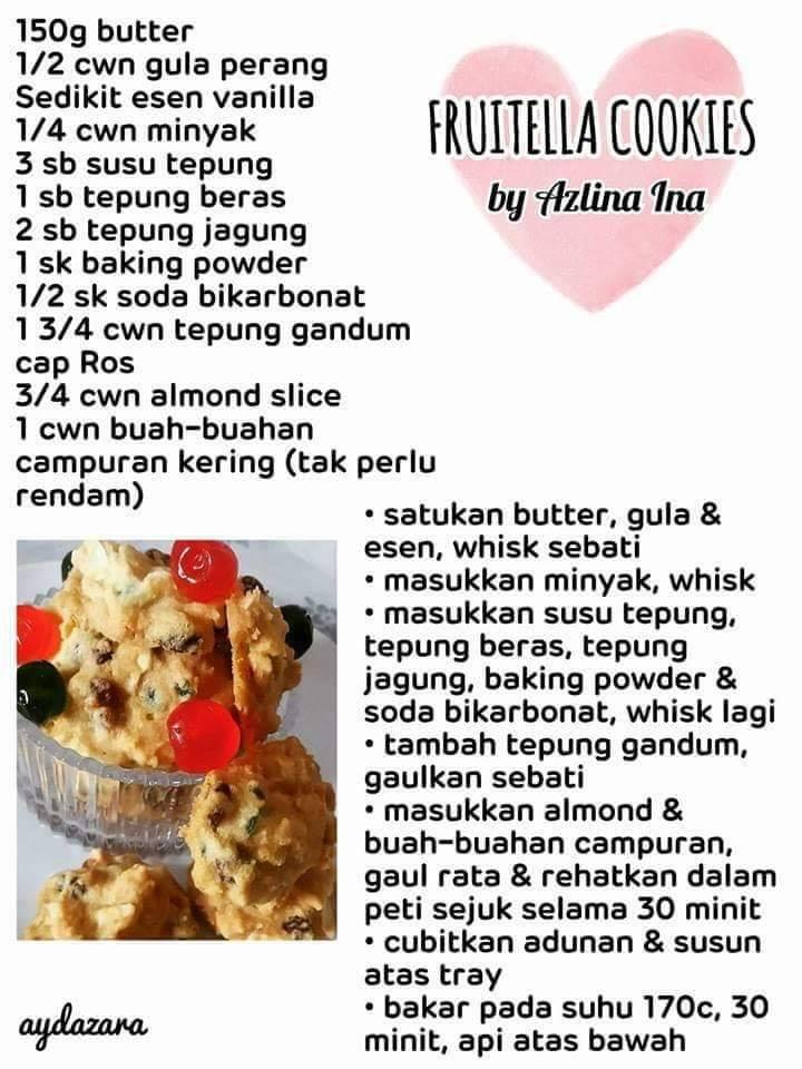 resepi fruitella cookies