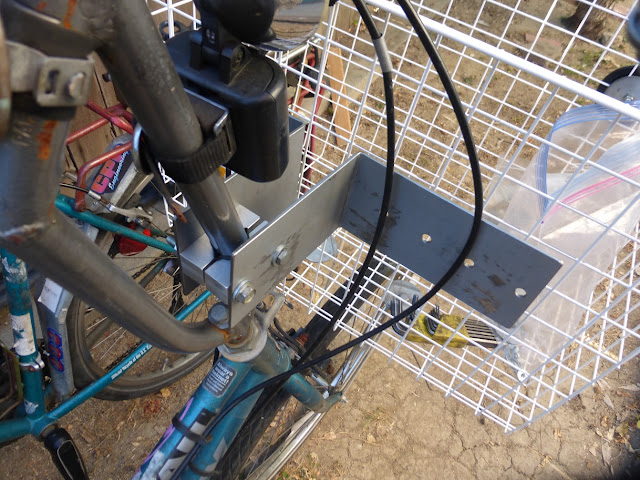 mounting basket onto stem