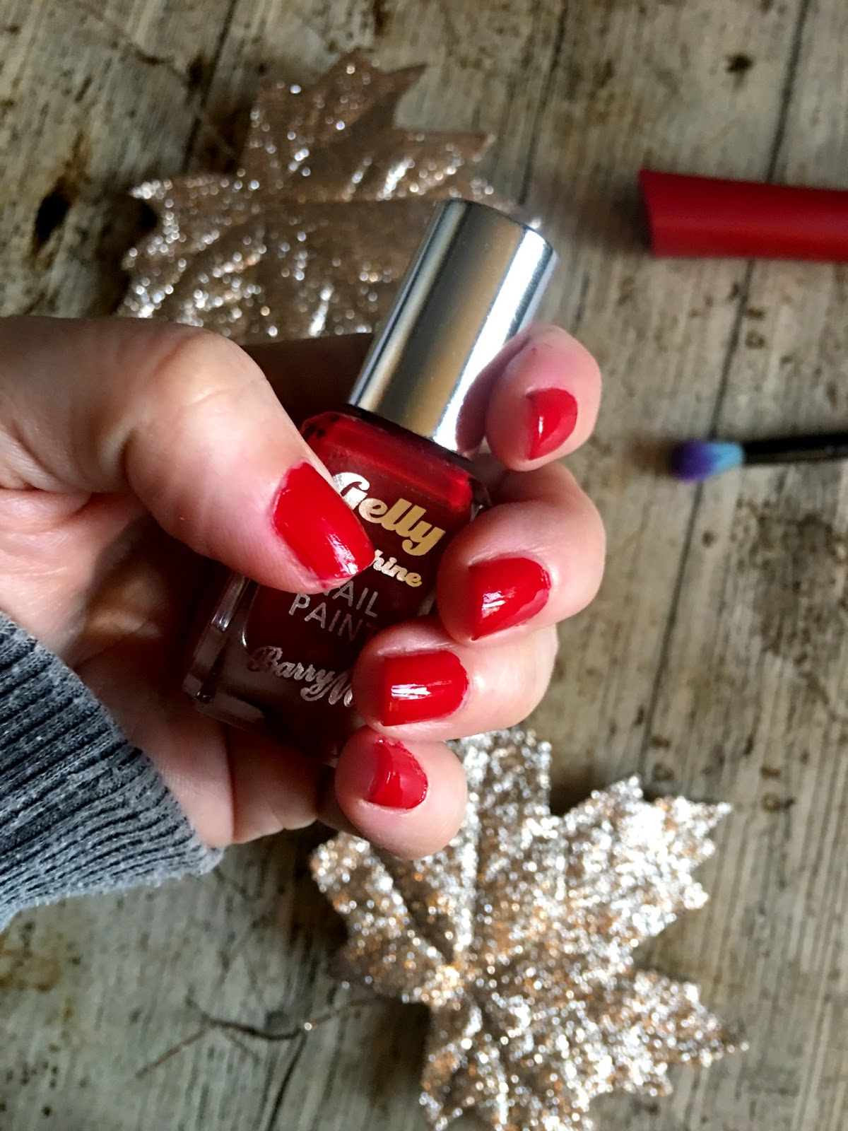 barry m gelly polish red