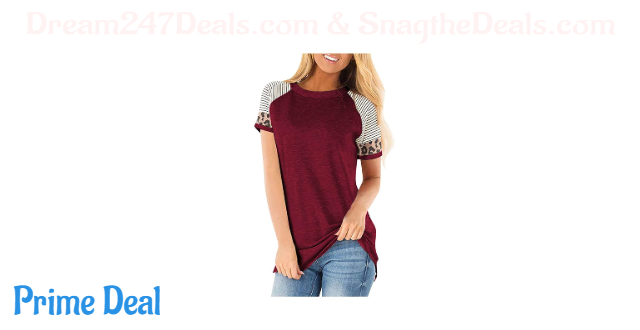 50% off  Women's Plus Size Round Neck Short Sleeve Casual Tops Loose Tunic Shirt S-3XL
