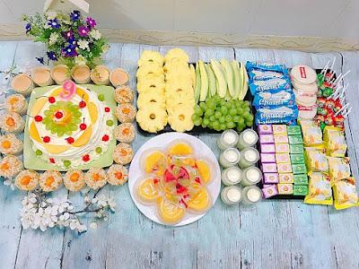 thực đơn buffet tiệc sinh nhật