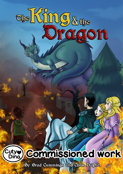 """The king a the dragon"" BookCover"