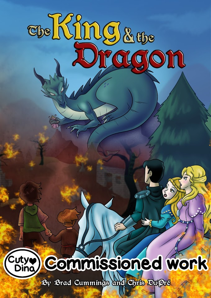 """""""The king a the dragon"""" BookCover"""