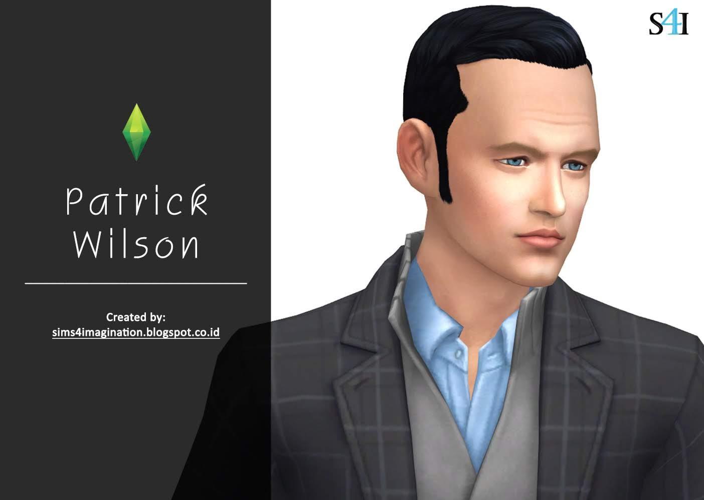 My Sims 4 CAS: Patrick Wilson (Patreon)