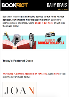 "Book Riot's ""Today's Featured Deals"" newsletter"