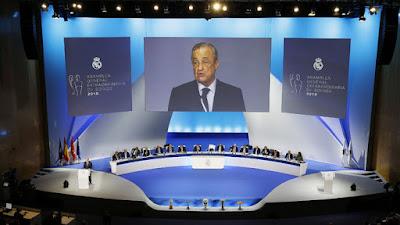 رسمياً.. ريال مدريد يعلن انتخاب فلورنتينو بيريز رئيساً للنادي