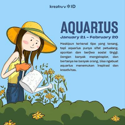 Tips tambah kreatif zodiak AQUARIUS