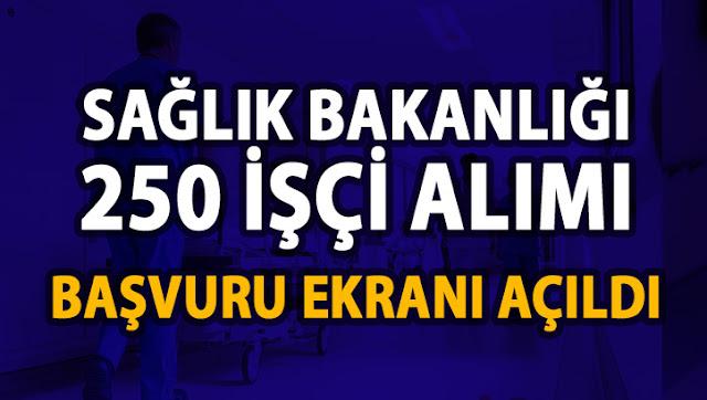 Sağlık Bakanlığı 250 işçi alımı