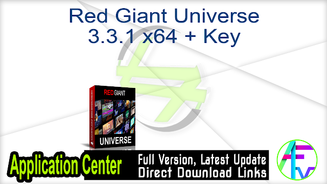 Red Giant Universe 3.3.1 x64 + Key