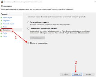Regola personalizzata firewall - Cortana 5