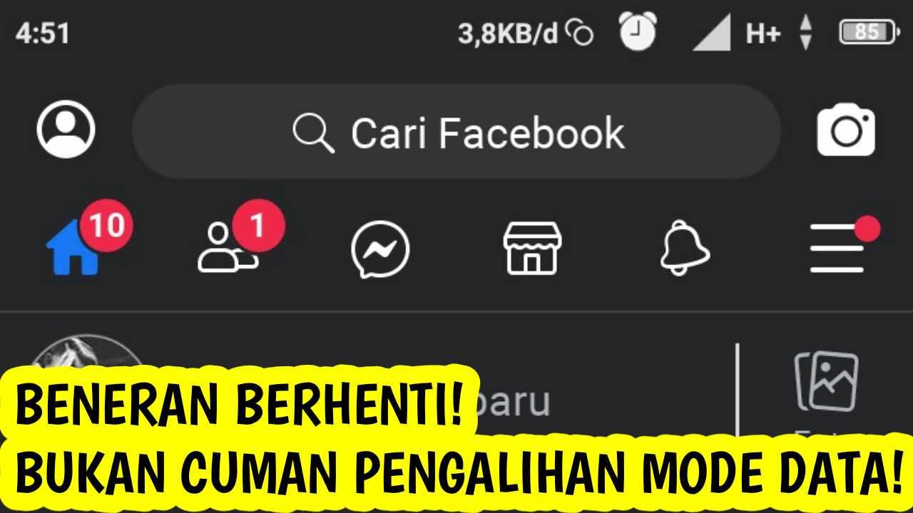 Cara Menghentikan Facebook Gratis Telkomsel, Indosat, Axis, Xl Dll