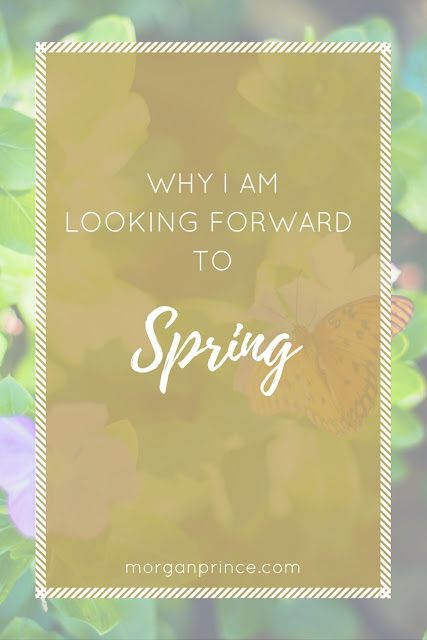 "pinnable image with words ""Why I am looking forward to spring"""