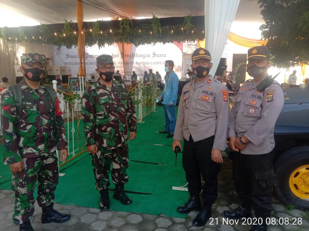 Pasiops Kodim 0410/KBL Kapten Inf Djafar hadiri kegiatan Simulasi Pemungutan dan Penghitungan suara Pemilihan Walikota dan Wakil Walikota Bandar lampung