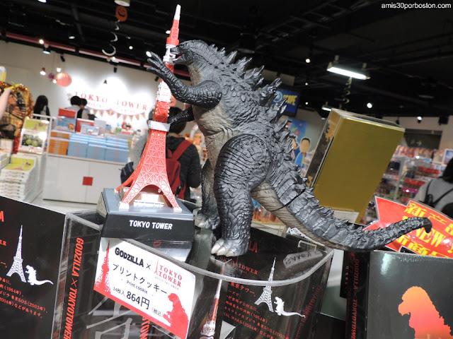 Godzilla en la Tienda de Regalos de la Torre de Tokio