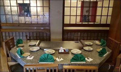 Teppanyaki room Okoh Japanese Restaurant
