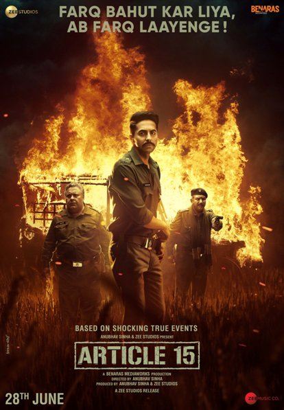 Article 15 new upcoming movie first look, Poster of Ayushmann next movie download first look Poster, release date