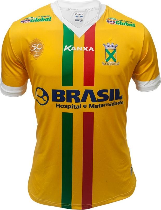 74bf785590 Kanxa divulga a terceira camisa do Santo André - Show de Camisas