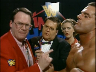 WWF / WWE - In Your House 5: Jim Cornette with Davey Boy Smith The British Bulldog and Dianna Smith