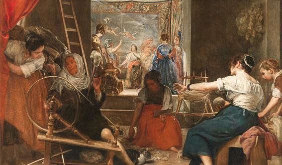 Las hilanderas Velazquez Museo Prado