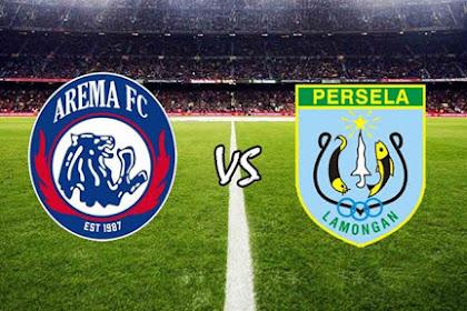 Hasil Pertandingan Shopee Liga 1: Arema FC 3-2 Persela Lamongan