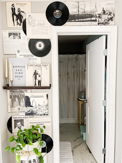 Records on the wall as home decor