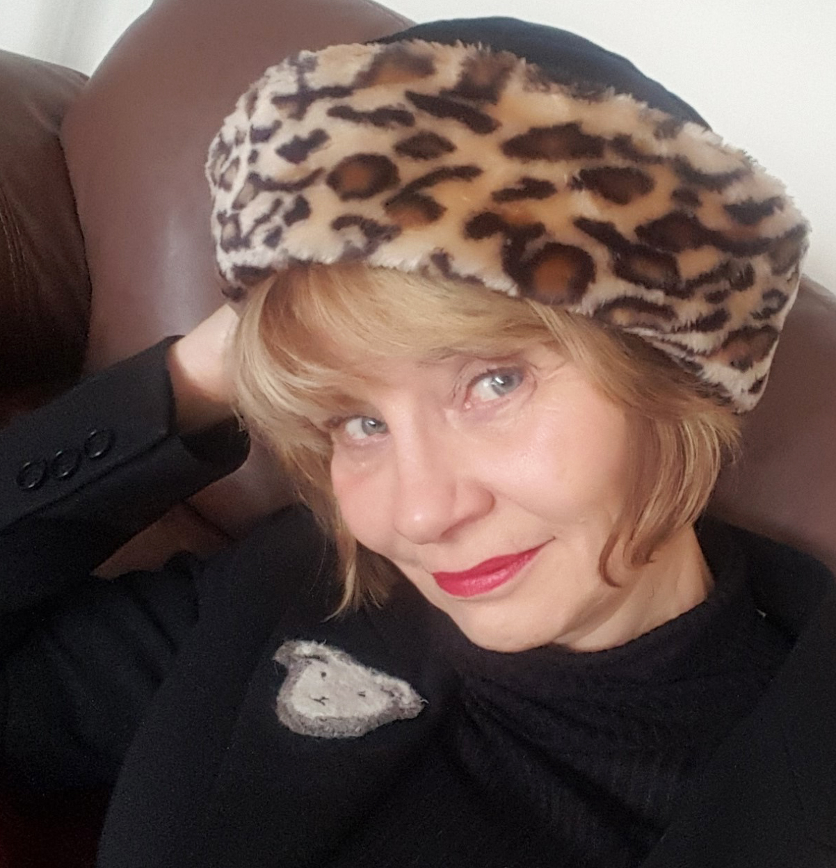 Image showing Gail Hanlon Is This Mutton in leopard print hat