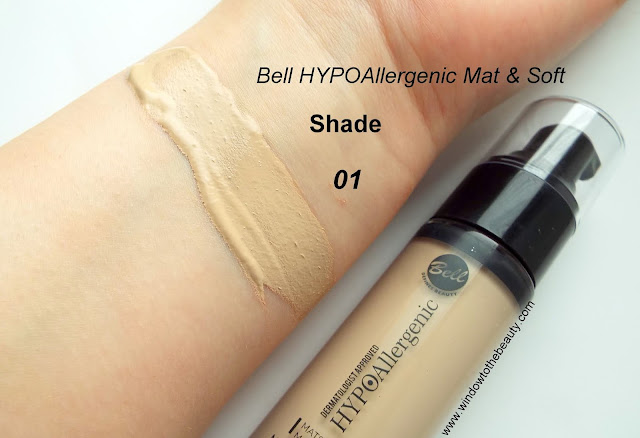 Bell Mat & Soft Foundation 01 swatches