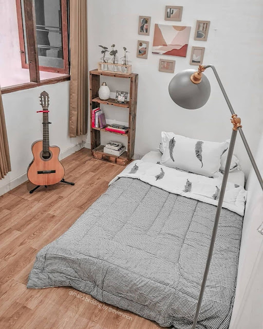 Hiasan dan Furniture Minimalis Kamar Cowok Sederhana