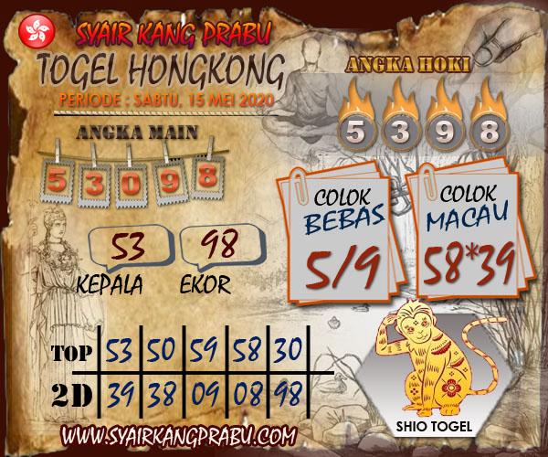 Prediksi Togel Hongkong Sabtu 16 Mei 2020 - Syair Kang Prabu