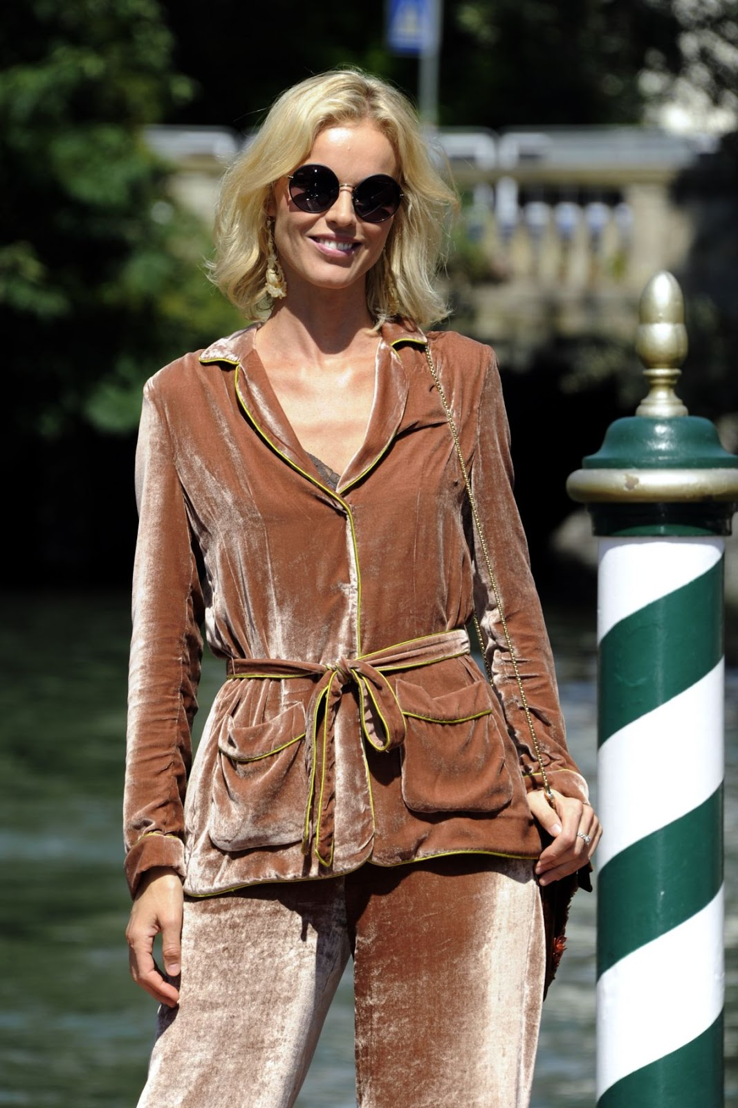Eva Herzigova Arrives In Venice Film Festival