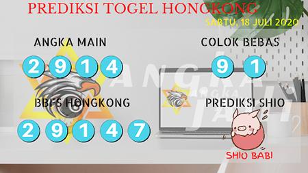 Prediksi Angka Jitu Togel Hongkong HK Sabtu 18 Juli 2020