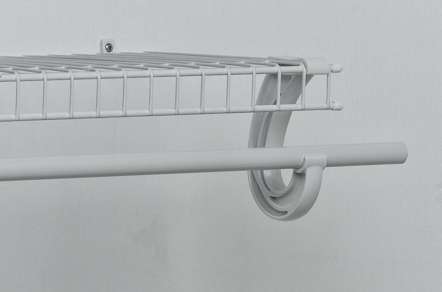 White Closet Maid Support For Super Slide Hanging Bar