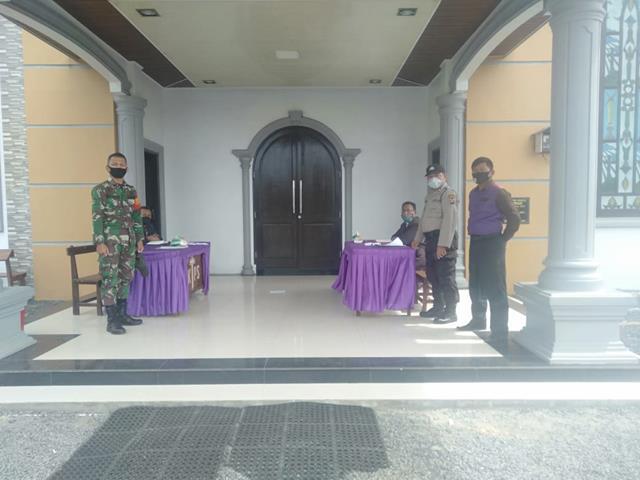 Pesta Pernikahan Diwilayah Binaan, Personel jajaran Kodim 0207/Simalungun Terapkan Protokol Kesehatan