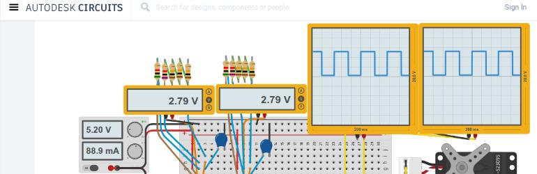 Autodek Circuits - Conjunto de ferramentas para projetar e simular circuitos eletrônicos.