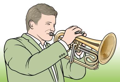 4バルブのフリューゲルホーン Flügelhorn