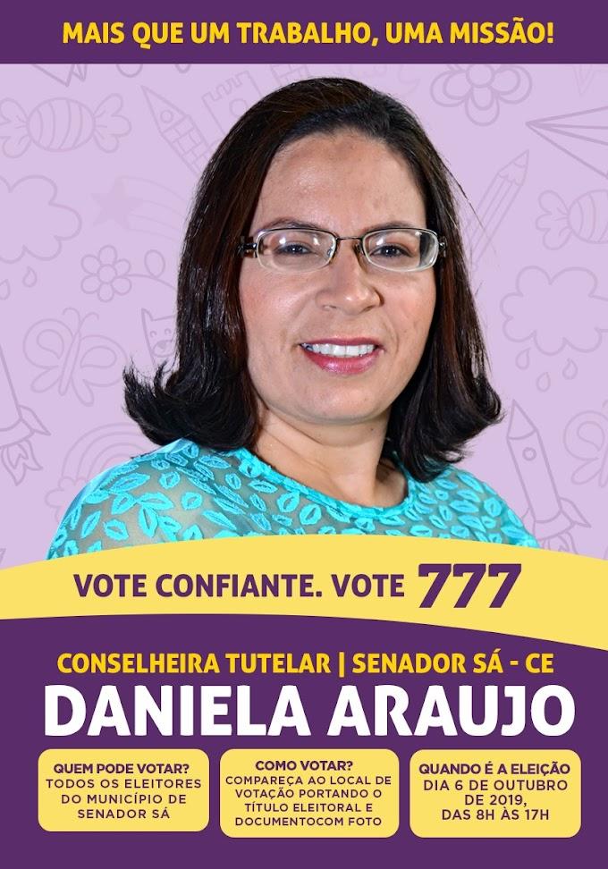 Eleições Conselho Tutelar: Candidata Daniela Araújo