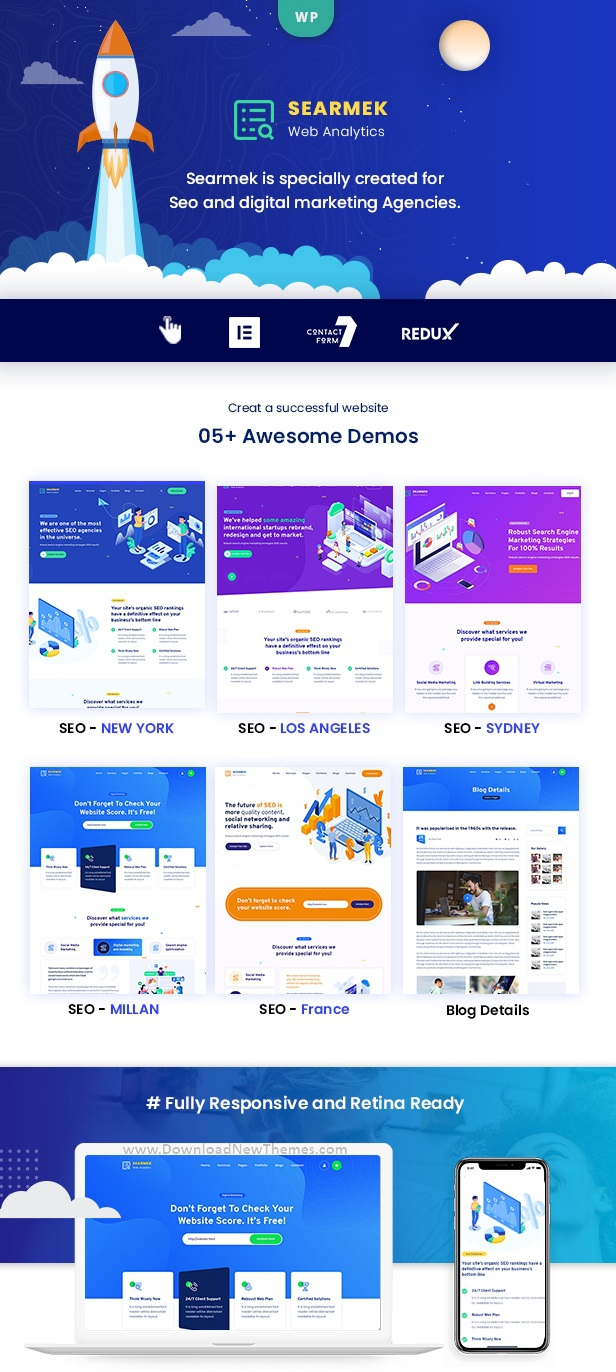 SEO and Marketing WordPress Theme