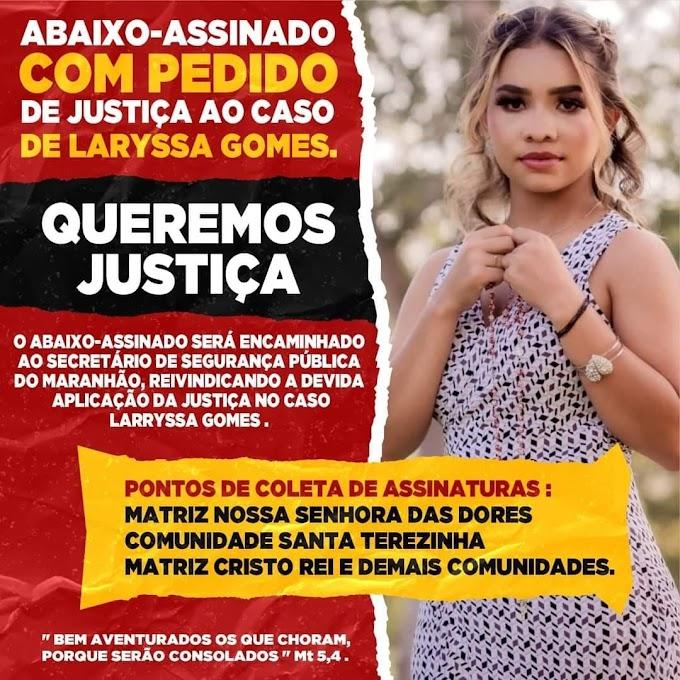 Cidadãos de Chapadinha criam abaixo-assinado com pedido de justiça ao caso de Laryssa Gomes