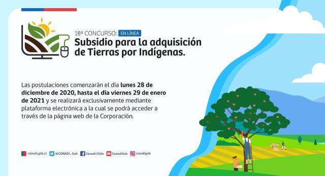Subsidio tierras indígenas