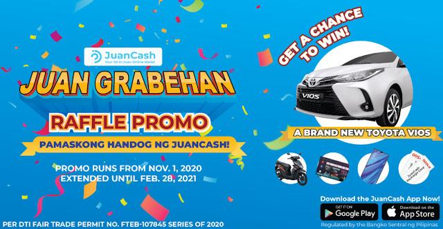 JuanCash JuanGrabehan Raffle Promo