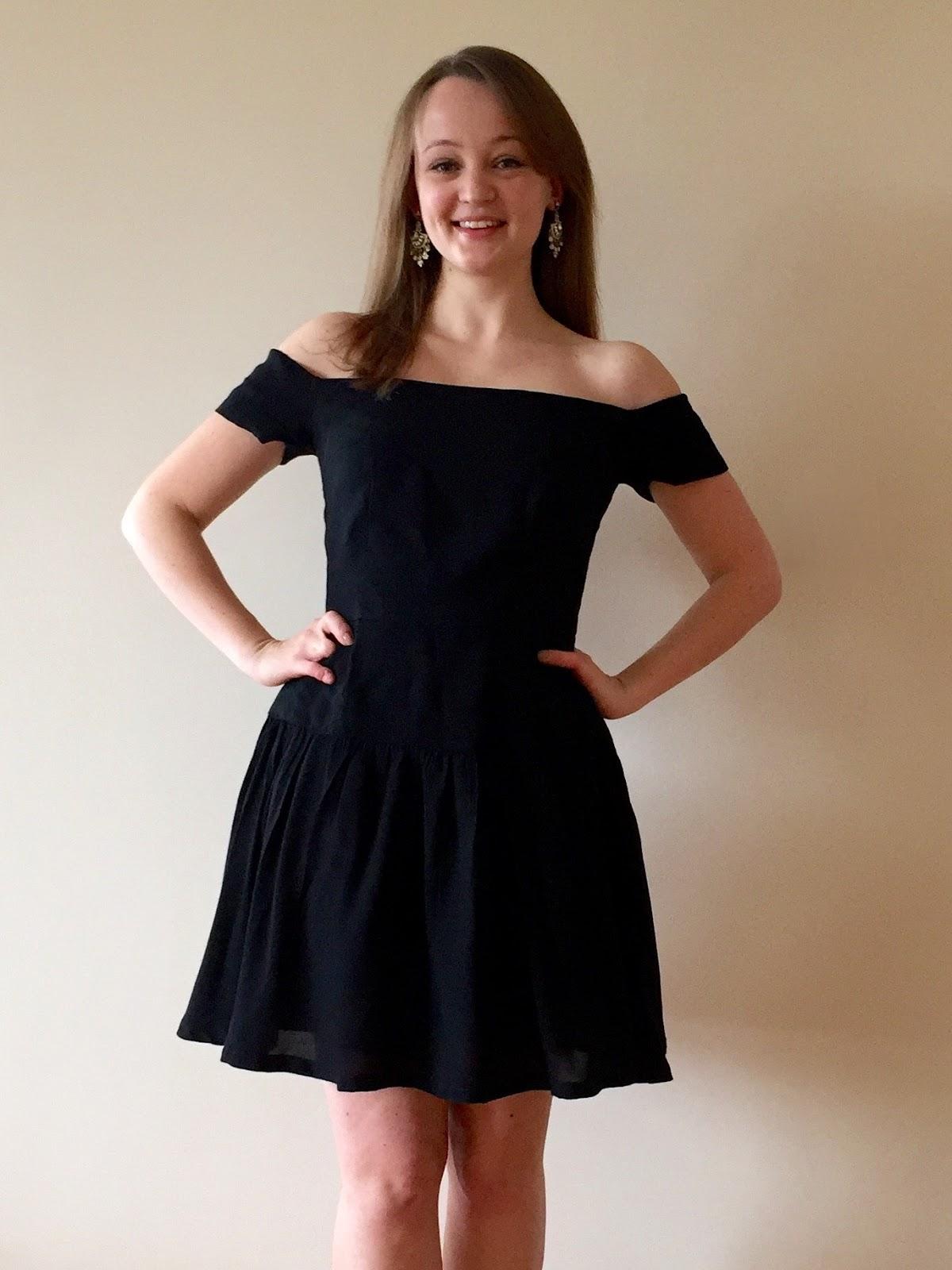 5c0593e7bd Black Viscose Seda Dress